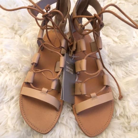 1529c90e61ab H M leather Gladiator sandals